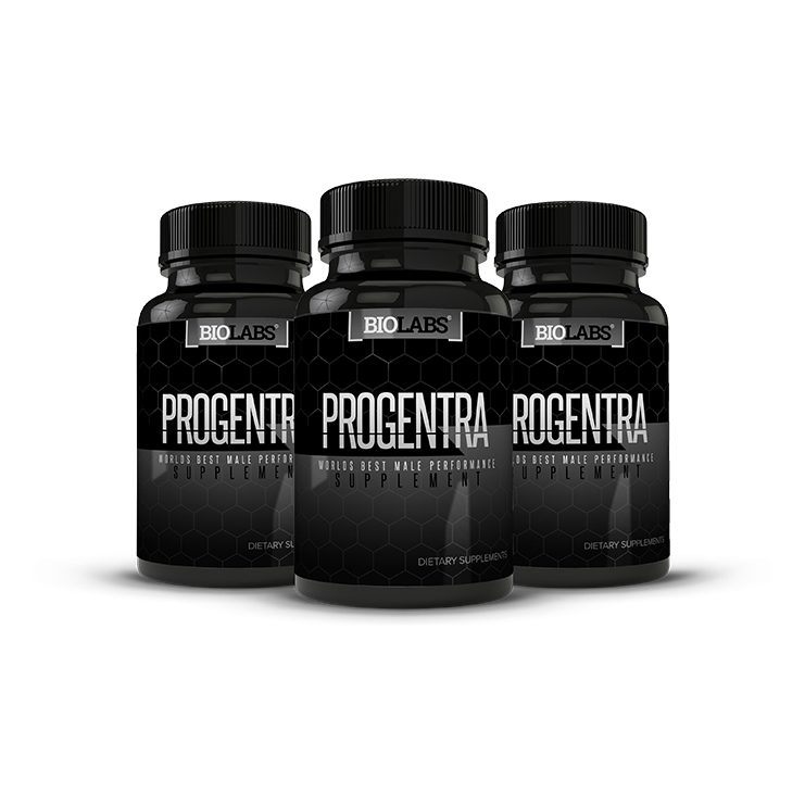 Three Bottles Of Progentra Male Enhancement Pills